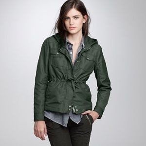 J Crew Utility Jacket hooded and lined - NWOT